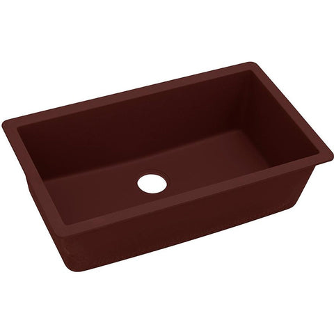 "Elkay ELGRU13322PC0 Quartz Classic 33"" x 18-7/16"" x 9-7/16"", Single Bowl Undermount Sink, Pecan"