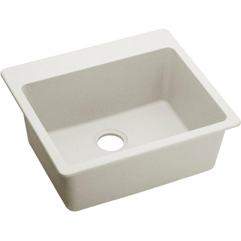 "Elkay Quartz Luxe 25"" x 22"" x 9-1/2"", Single Bowl Top Mount Sink, Ricotta"