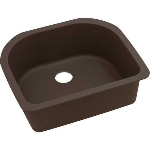 "Elkay Quartz Luxe 25"" x 22"" x 8-1/2"", Single Bowl Undermount Sink, Chestnut"