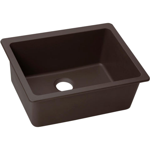 "Elkay Quartz Luxe 24-5/8"" x 18-1/2"" x 9-1/2"", Single Bowl Undermount Sink in Chestnut"