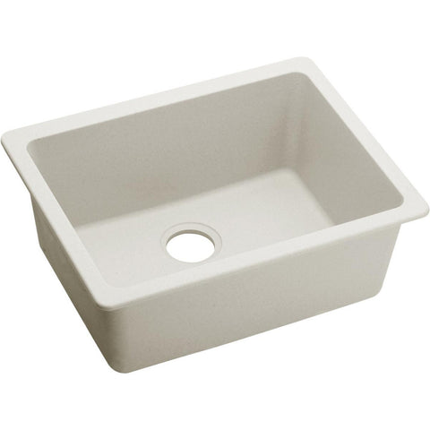"Elkay Quartz Luxe 24-5/8"" x 18-1/2"" x 9-1/2"", Single Bowl Undermount Sink in Ricotta"