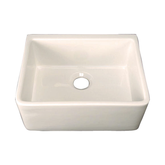 Barclay Brooke Fireclay Single Bowl Farmer Sink in Bisque – 24″ - SpeedySinks
