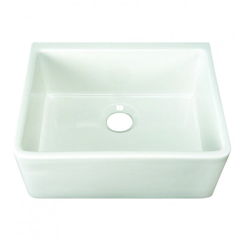 Barclay Brooke Fireclay Single Bowl Farmer Sink in White – 24″ - SpeedySinks