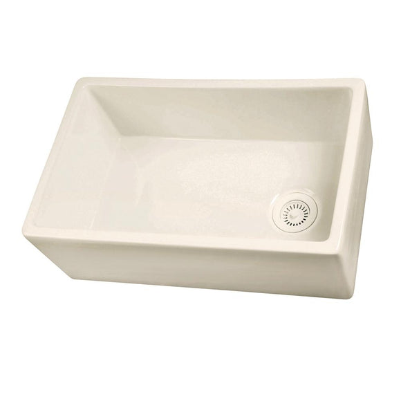 Barclay FS30 Single Bowl Fireclay Farmer Sink in Bisque – 30″ - SpeedySinks