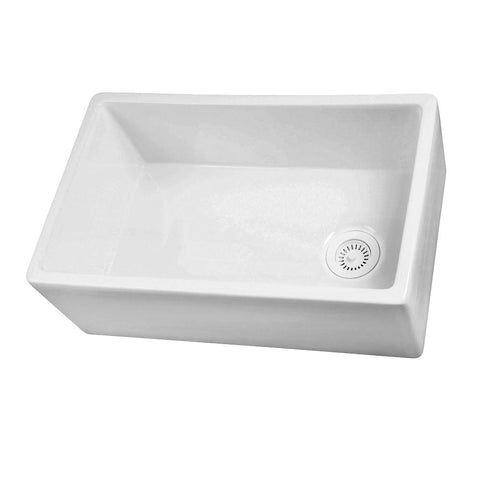 Barclay FS30 Single Bowl Fireclay Farmer Sink in White – 30″ - SpeedySinks