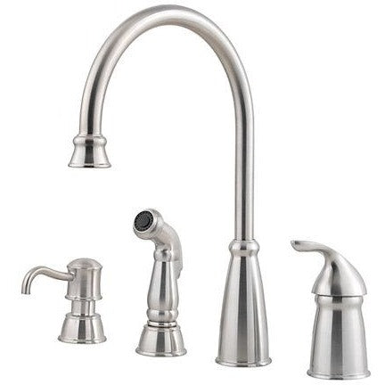 Pfister Avalon 1-Handle Kitchen Faucet in Stainless - SpeedySinks