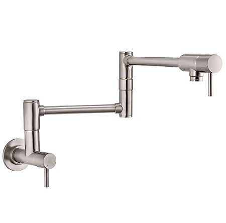 Pfister Lita Wall Mount Pot Filler in Stainless Steel - Chariotwholesale