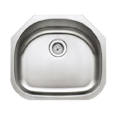 Presidential Harrison Premium 18 Gauge Undermount Stainless Steel D-Bowl Laundry/kitchenette Sink - SpeedySinks