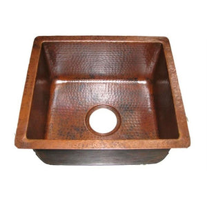 "Log Cabin Dakota 14"" Undermount Copper Bar Sink - SpeedySinks"