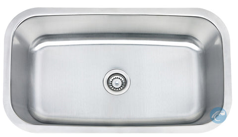 Liberty Lexington Kitchen 18 Gauge Single Bowl Undermount Stainless Steel Sink