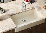 Elkay Quartz Luxe Single Bowl Apron Front Sink with Perfect Drain