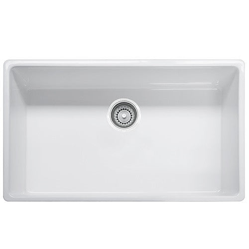 Franke FHK710-33 Fireclay Farm House Apron Front Kitchen Sink in White - Chariotwholesale