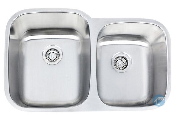 Liberty Philadelphia Kitchen 18 Gauge 60/40 Offset Undermount Stainless Steel Sink