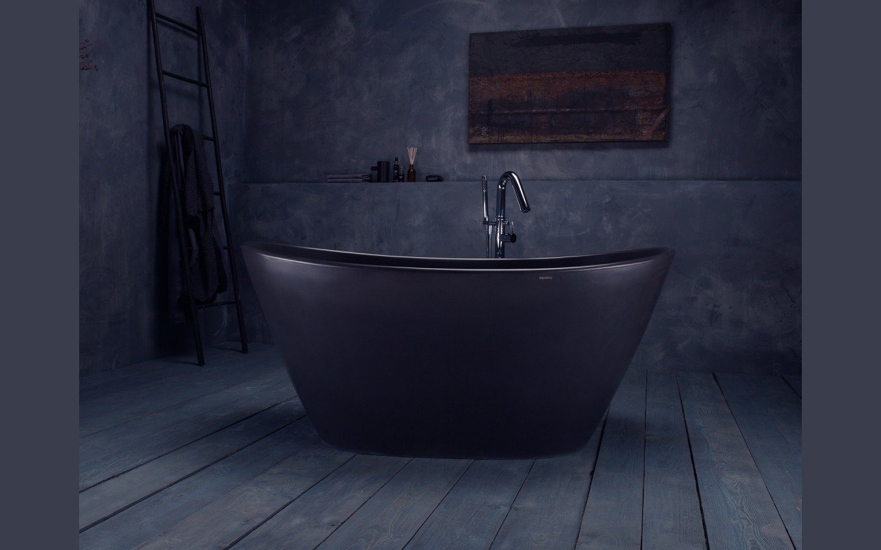 Aquatica Purescape 748-BM Graphite Black Solid Surface Bathtub ...