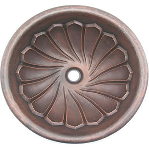 Oriental Maelstrom Modern Design Round Copper Bathroom Sink - SpeedySinks