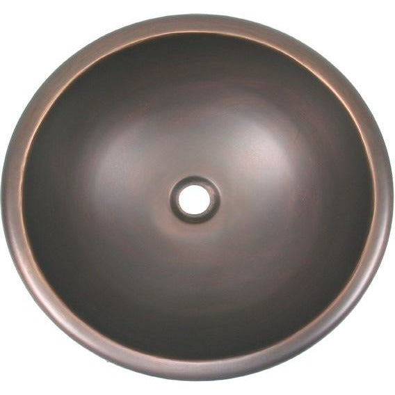 Oriental Round Plain Copper Bathroom Sink - SpeedySinks