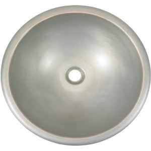 Oriental Nickel Patina Smooth Round Copper Bathroom Sink - SpeedySinks