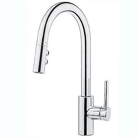 Pfister Stellen 1-Handle Pull Down Kitchen Faucet in Polished Chrome - SpeedySinks
