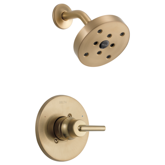 Delta Trinsic Monitor 14 Series H2Okinetic Shower Trim in Champagne Bronze