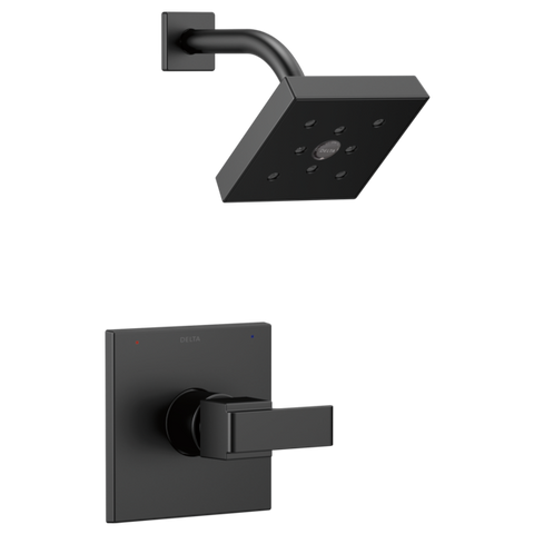 Delta Monitor 14 Series H2Okinetic Shower Trim Only in Matte Black