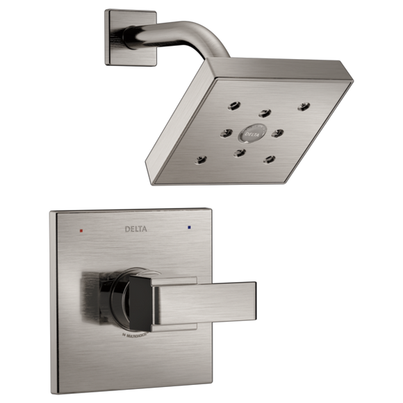 Delta Monitor 14 Series H2Okinetic Shower Trim Only in Stainless