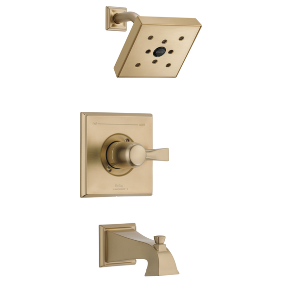 Delta Dryden Monitor 14 Series H2Okinetic Tub/Shower Trim Only in Champagne Bronze