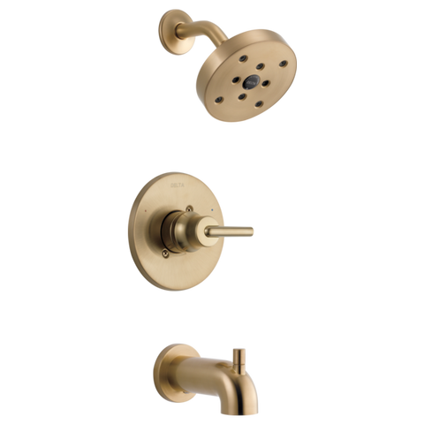 Delta Trinsic Monitor 14 Series H2Okinetic Tub/Shower Trim in Champagne Bronze