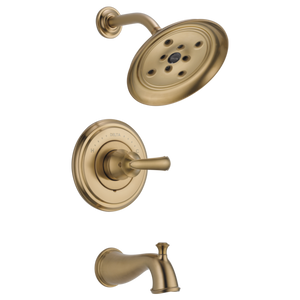 Delta Cassidy Monitor 14 Series H2Okinetic Tub/Shower Trim Only in Champagne Bronze