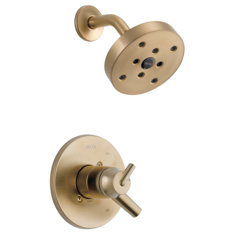 Delta Trinsic Monitor 17 Series H2Okinetic Shower Trim in Champagne Bronze