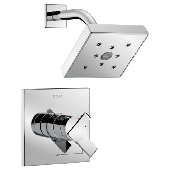 Delta Monitor 17 Series H2Okinetic Shower Trim Only in Chrome