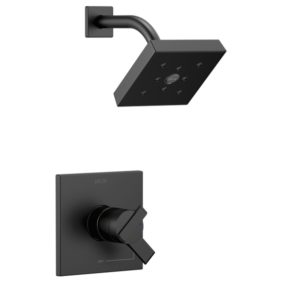 Delta Monitor 17 Series H2Okinetic Shower Trim Only in Matte Black