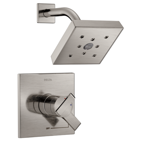 Delta Monitor 17 Series H2Okinetic Shower Trim Only in Stainless