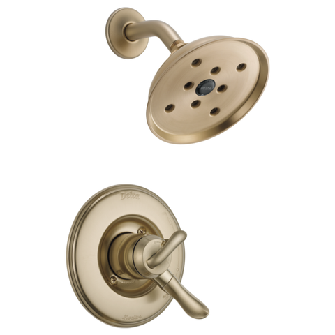 Delta Linden Monitor 17 Series H2Okinetic Shower Trim Only in Champagne Bronze