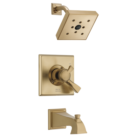 Delta Dryden Monitor 17 Series H2Okinetic Tub/Shower Trim Only in Champagne Bronze