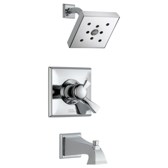 Delta Dryden Monitor 17 Series H2Okinetic Tub/Shower Trim Only in Chrome