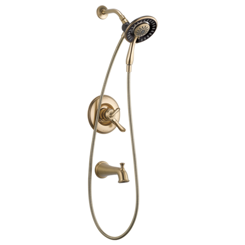 Delta Dryden Monitor 17 Series Tub/Shower Trim with In2ition in Champagne Bronze