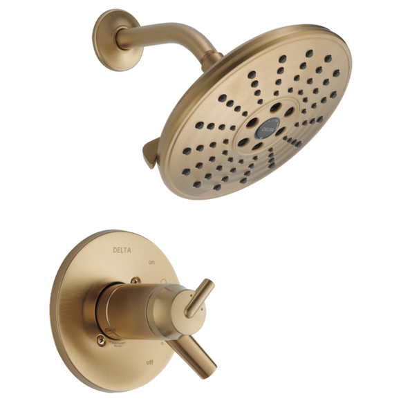 Delta Trinsic TempAssure 17T Series H2Okinetic Shower Trim Only in Champagne Bronze