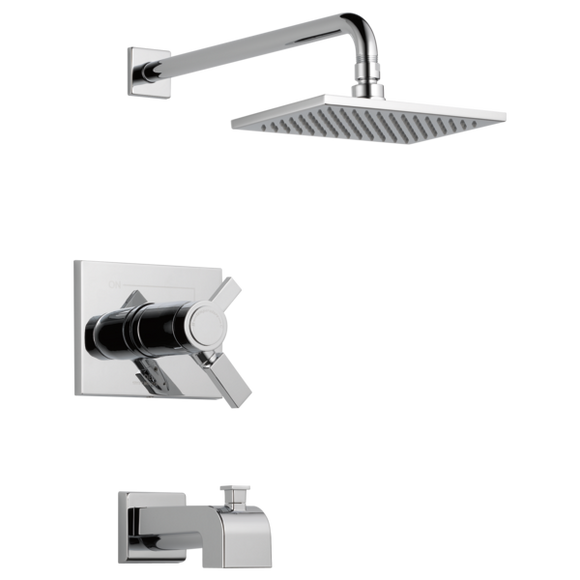 Delta Vero TempAssure 17T Series Tub & Rain Shower Trim in Chrome - SpeedySinks