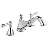 Delta Cassidy Roman Tub Trim - Low Arc Spout in Chrome - Less Handles