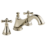Delta Cassidy Roman Tub Trim - Low Arc Spout in Polished Nickel - Less Handles