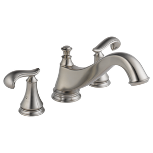 Delta Cassidy Roman Tub Trim - Low Arc Spout in Stainless - Less Handles