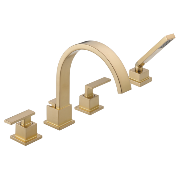 Delta Vero Roman Tub Trim with Hand Shower in Champagne Bronze - SpeedySinks