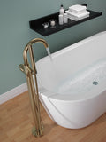 Delta Contemporary Floor Mount Tub Filler Trim in Champagne Bronze