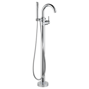 Delta Contemporary Floor Mount Tub Filler Trim in Chrome