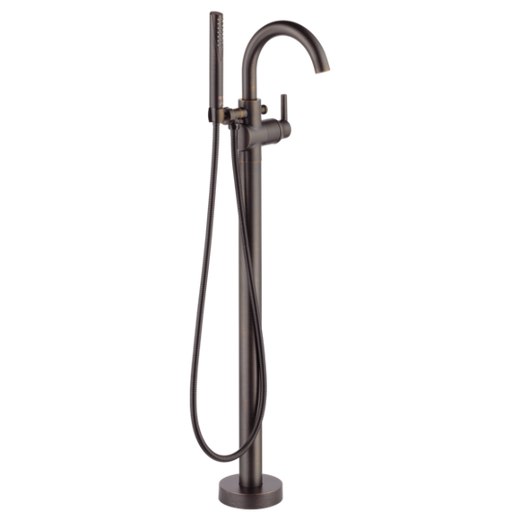 Delta Contemporary Floor Mount Tub Filler Trim in Venetian Bronze - SpeedySinks