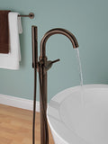 Delta Contemporary Floor Mount Tub Filler Trim in Venetian Bronze