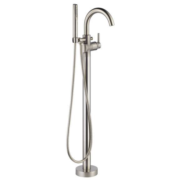 Delta Contemporary Floor Mount Tub Filler Trim in Stainless