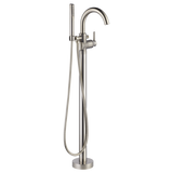 Delta Contemporary Floor Mount Tub Filler Trim in Stainless - SpeedySinks