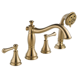 Delta Cassidy Roman Tub with Hand Shower Trim in Champagne Bronze - Less Handles