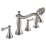 Delta Cassidy Roman Tub with Hand Shower Trim in Stainless - Less Handles - Chariotwholesale